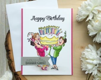 Funny Birthday Card, Humorous Birthday Card, Grandma Birthday Card, Happy Birthday, Birthday Card, Birthday Cake Card, Mother, Coworker