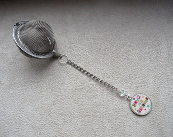 "ball tea Infuser ""teacher"" stainless steel, consisting of a Crystal bead"