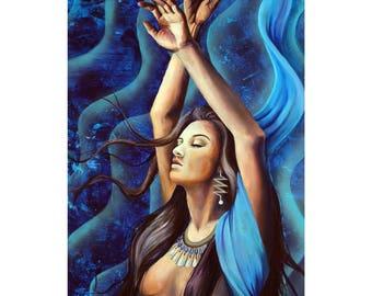 Signed Poster -Vibration -Kybalion art -visionary art - divine feminine -waves -Hermetic Art -Symbolism -goddess -sacred -vibes -Kybalion