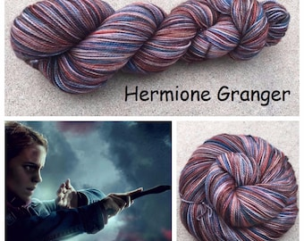 Hermione Granger ~ Hand dyed Merino wool yarn
