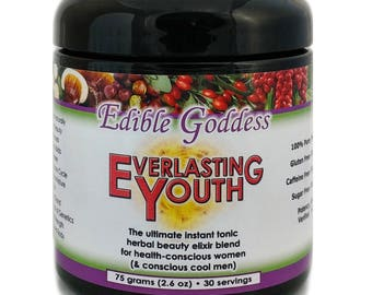75g Everlasting Youth: The Ultimate Instant Tonic Herbal Beauty & Vitality Elixir Blend for Health Conscious Women (and Conscious Cool Men)