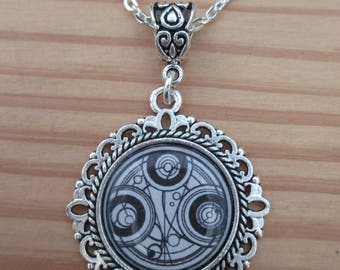 Doctor Who Gallifreyan Time Lord Necklace