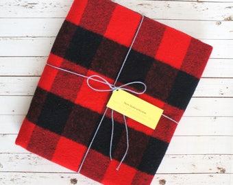 Flannel Baby Blanket - Flannel Receiving Blanket - Buffalo Plaid Swaddle Blanket - Cozy Throw - Adventure Nursery - Lumberjack Nursery