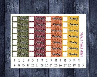 Weekend Sale Fall Date covers for ECLP, happy planner, or any planner