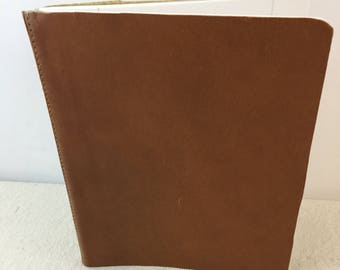 Brown Faux Leather Journal/Brown Leather Compositiom Notebook