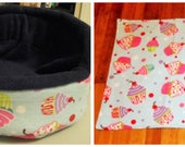 Custom Cupcake Party cuddle cups and lap pad set