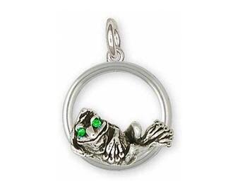 Frog Charm Jewelry Sterling Silver Handmade Frog Charm FG9-XDC