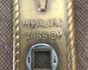 1950's Hopalong Cassidy Bar 20 Money Clip/Hoppie Magnifier/Spy Magnifier
