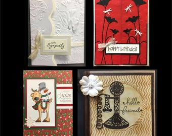 Superieur Handmade Card Kit   August 2017 Release   Create 4 Cards Christmas Hello  Friend Sympathy And
