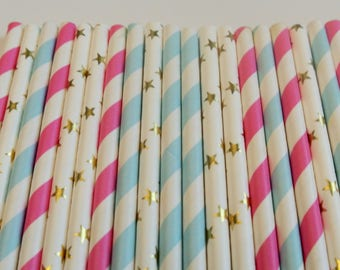 Twinkle Twinkle Little Star Baby Shower Decor. Baby Shower Decor By Paper Rabbit. Twinkle Twinkle Little Star Gender Reveal. Star Straws