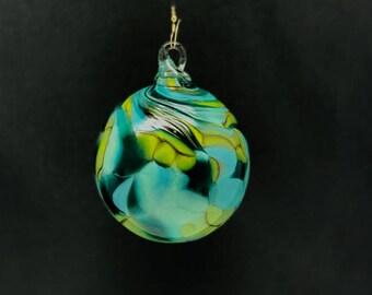 Hand Blown Glass Christmas Ornament (Color Name: Mermaid)