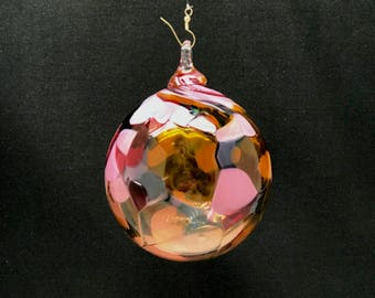 Hand Blown Glass Christmas Ornament (Color Name: Singing in the Rain)