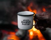 4 Enamel Camp Mugs and Shipping