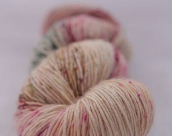 Hand-dyed yarn - sock yarn - superwash - merino - dyed-to-order - speckles - SOFT