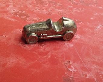 Miniature brass car, antique brass car, tiny brass car, convertible car, brass miniature, shadow box prop, car lovers, collectable car, koy1