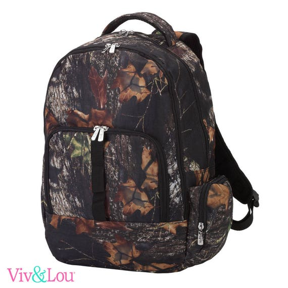 woods camo backpack camouflage  backpack  bookbag embroidered  back to school girls boys backpack monogrammed backpack