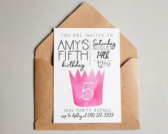 Princess Birthday Invitation Princess Birthday Invite Princess Printable Princess Invite Editable Princess Invitation Birthday Invite