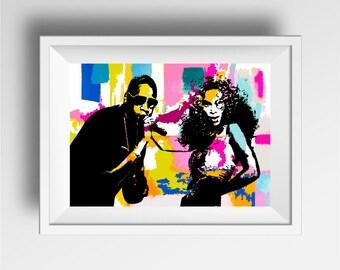 Jay Z poster print, Beyonce poster print