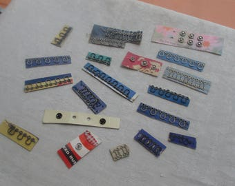 Lot Of Vintage Assorted  Sewing Snaps & Hook Remnants