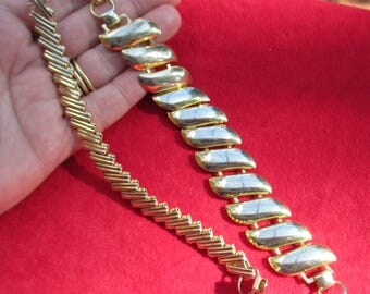 Lot Of Retro Metal Linked Bracelets
