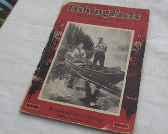 Vintage Outdoor Life Fishing Facts Paperback Book TLC