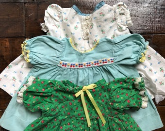 Three Baby Doll Dresses ~ Vintage ~ Medium-Large Size