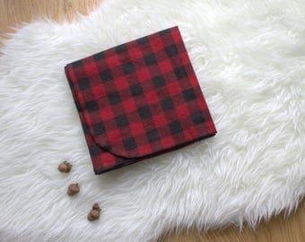 Buffalo Plaid Flannel Receiving Blanket - Baby Blanket - Red Blanket - Large Swaddling Blanket - Carseat Blanket - Made 4U Handmade Designs
