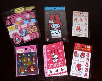 Vintage Sanrio 1990s My Melody Stickers and Mini Album