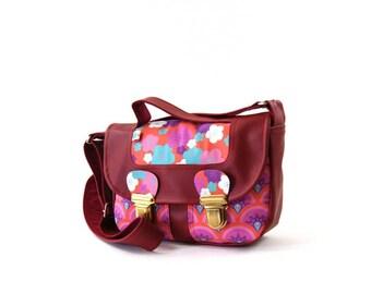 Original Burgundy shoulder satchel bag