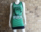 Unleash the Hulk Sleeveless Scoop Neck Dress