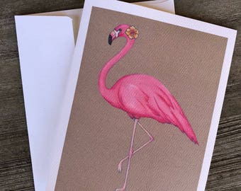 Flamingo: Blank Stationery