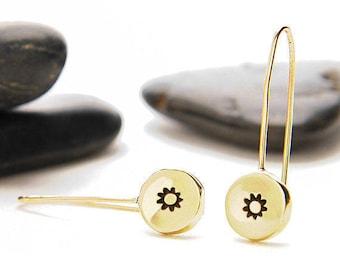 Sun Earrings, Sun Jewelry, Sun, Dangle Earrings, Gold Sun Earrings, Celestial Jewelry, Suns, Sunshine Jewelry, Sunburst, e246b