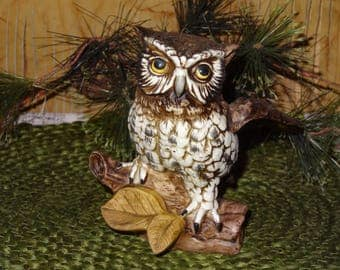 Homco Owl Figurine / Owl Collectible / Homco Collectible / Owl Figurine