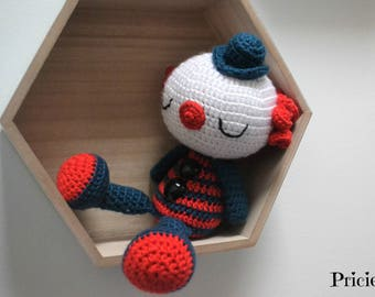 amigurumi toy Clown Navy crochet