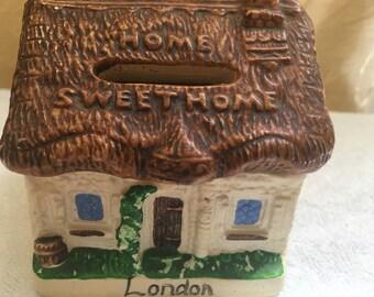 Vintage Home Sweet Home Ceramic Bank