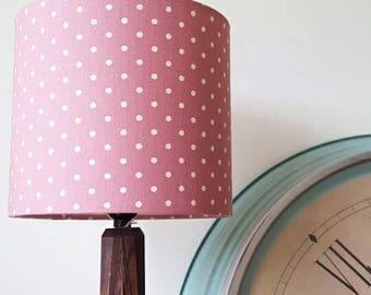 Spotty Lampshade, Polka Dot Lampshade, Drum Lampshade, Pink Lampshade, Lampshades, Lamp shades, Ceiling Shades,