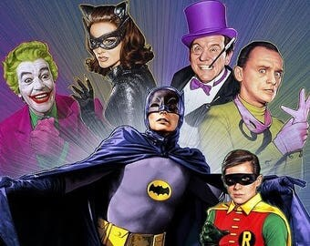 Cast from the Batman 1960's TV series