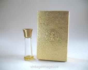 Vintage Avon One Dram Mini Perfume Bottle Topaze, 60s 70s Miniature Boxed