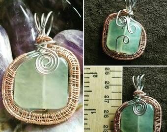 Jade Copper Wire Woven Pendant