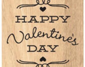 Happy Valentine's Day Wood Stamp