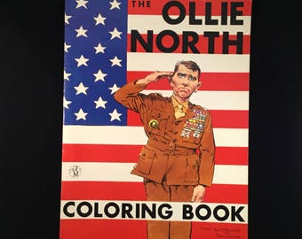 The Ollie North Coloring Book 1987 MORT DRUCKER