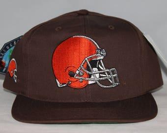 Vintage Deadstock Cleveland Browns American Needle Blockhead NFL Snapback Hat