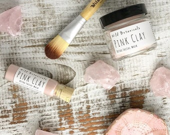 Facial Mask Gift Set with Rose Quartz