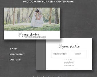 Wedding Business Card Template for Photographers, Business Card Template, Photoshop Template for Photographers, PSD Template, bc006