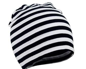 Black Beanie Infant OS Baby Monochrome
