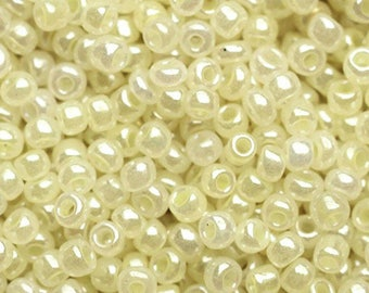 Seed beads 11/0 (2mm) Pastel Pearlescent yellow