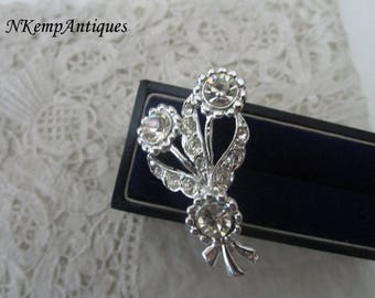1950's diamante brooch