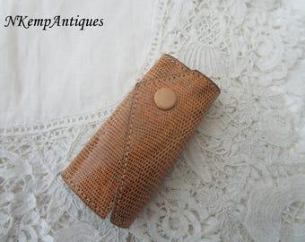 Vintage leather key holder