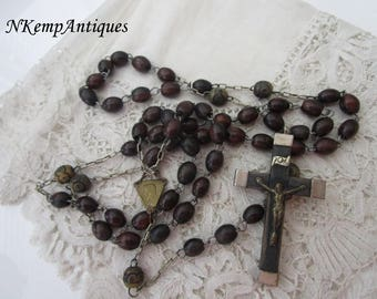 Antique wooden rosary 1900
