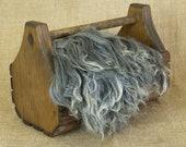 Washed Gray Suri Alpaca Locks: 1 ounce (Ursula) Fiber for Felting, Spinning or Doll Hair